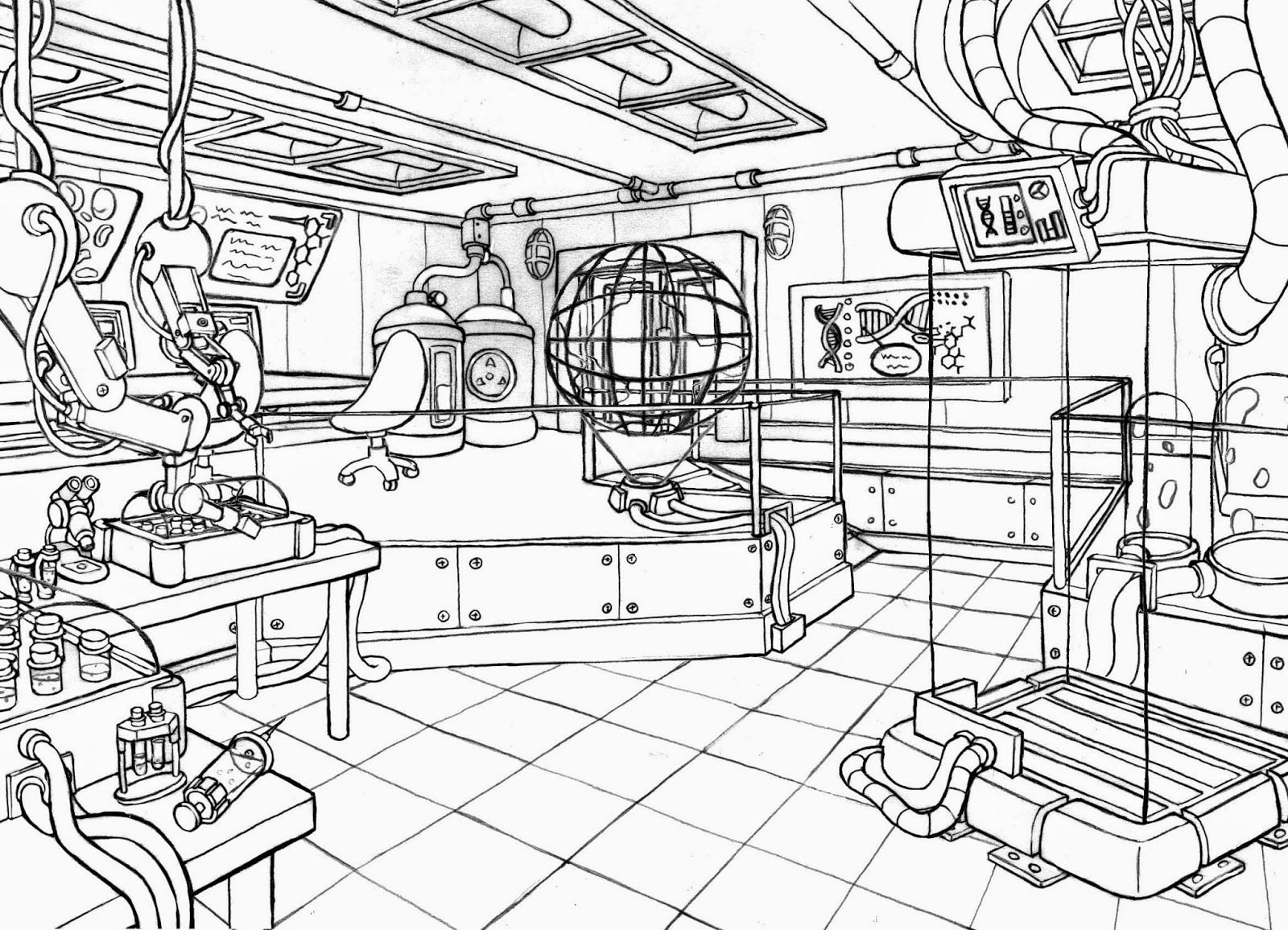 Related Science Lab Coloring Pages item-20943, Science Lab ...