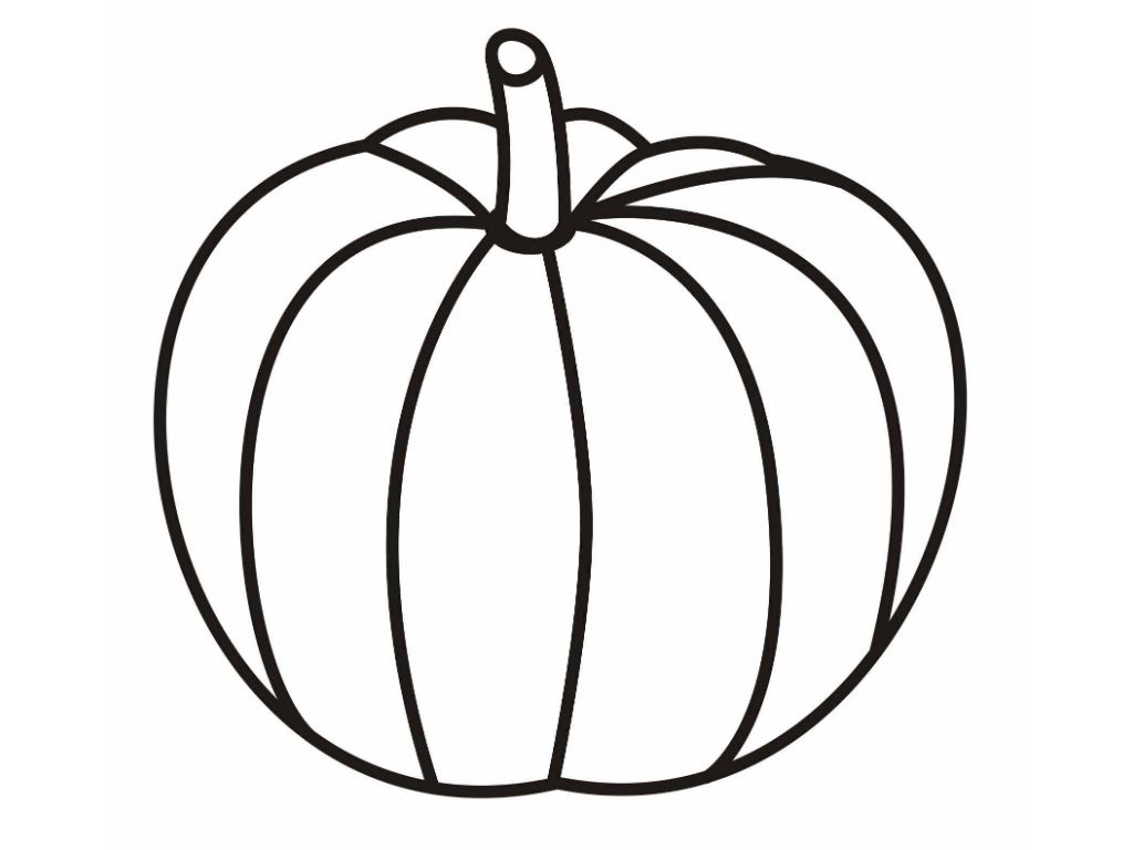 outline of pumpkin printable