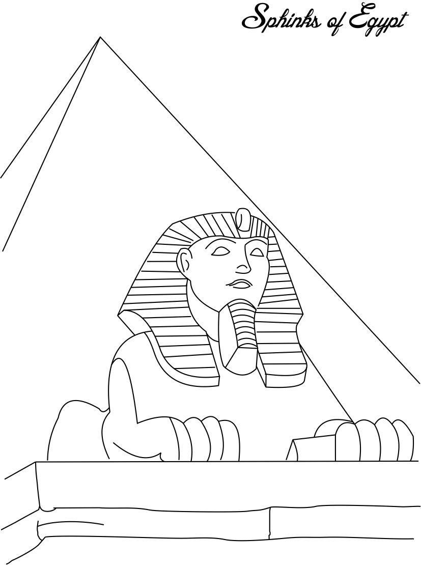 Sphinx Coloring Page Coloring