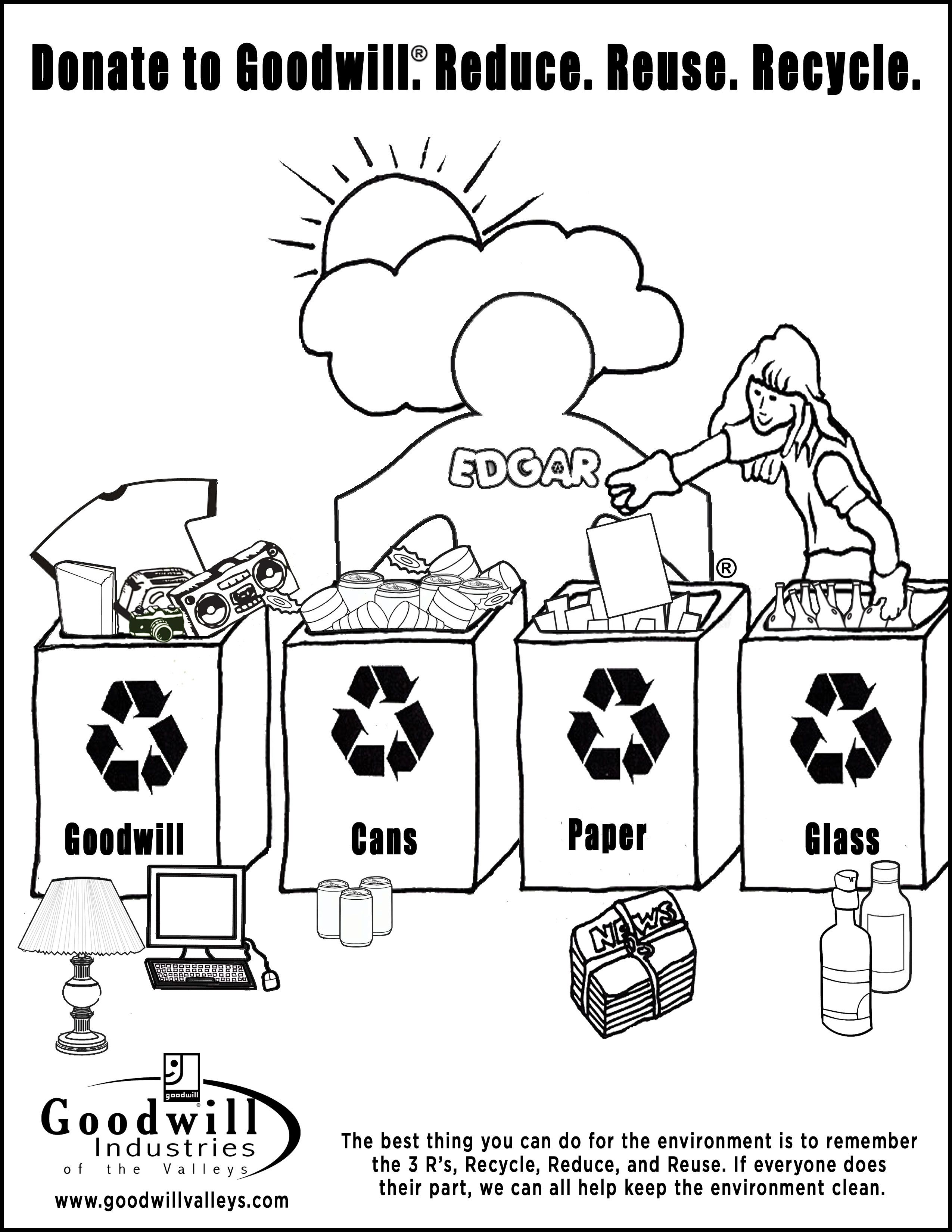 recycle coloring pages - photo#19