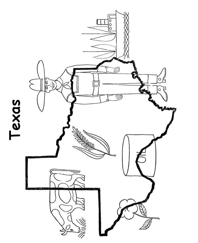 Texas longhorn coloring pages coloring home for State of texas symbols coloring pages