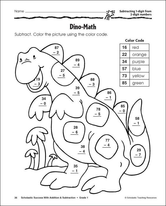 first grade addition coloring pages - photo#29