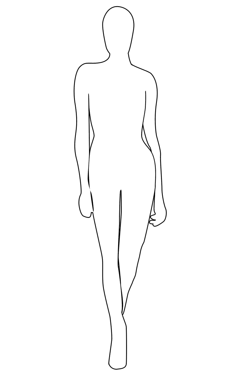 Female Outline Coloring Home