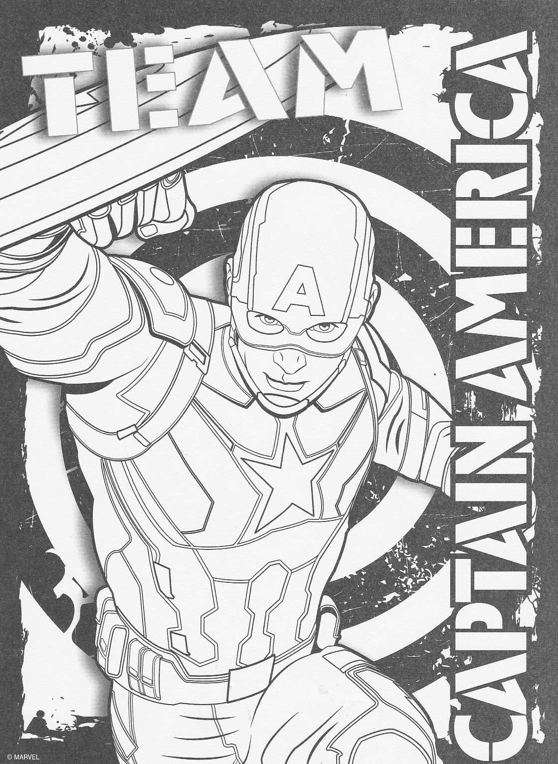 Captain America Civil War Coloring Pages - Coloring Home
