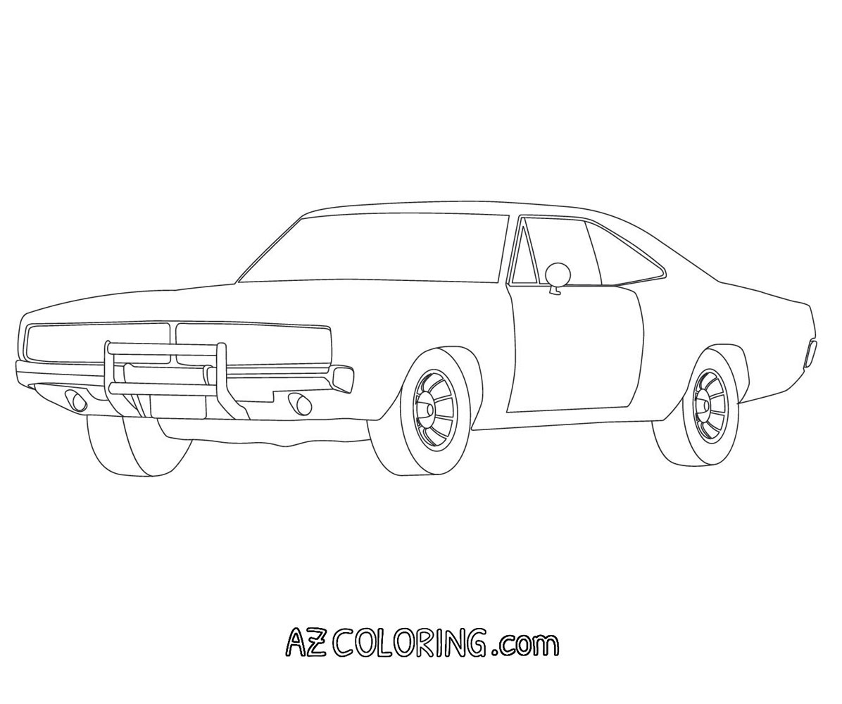 dodge charger exhaust system diagram sketch coloring page