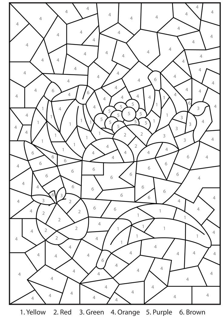 advanced color by number coloring pages coloring home