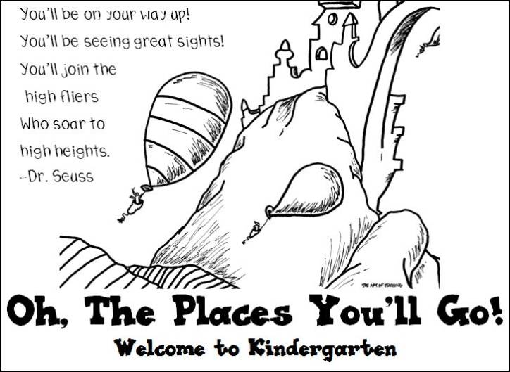 oh the places you 39 ll go coloring page coloring home. Black Bedroom Furniture Sets. Home Design Ideas