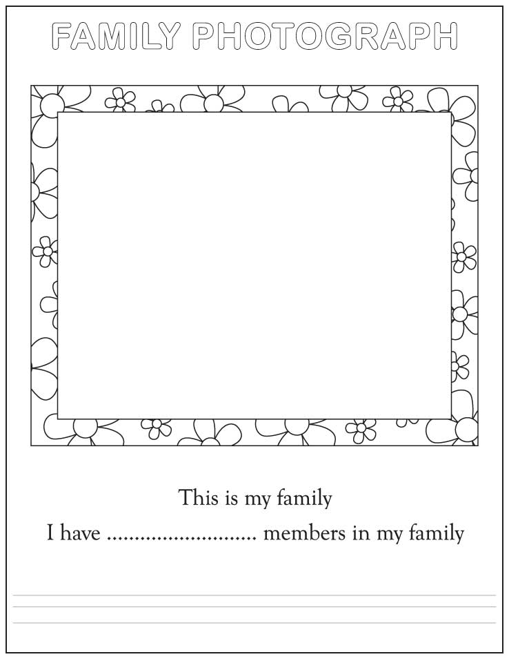 All About Me Coloring Page Family Coloring Home