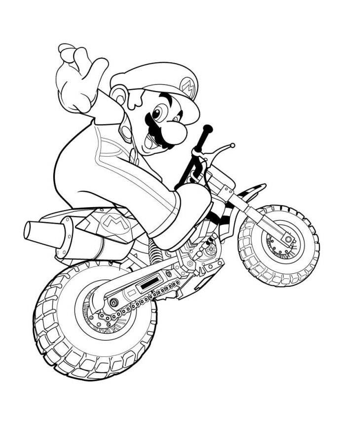 Mario Coloring Pictures - Coloring Pages for Kids and for Adults