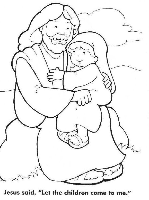 Jesus Loves The Little Children Coloring Page - Coloring Home