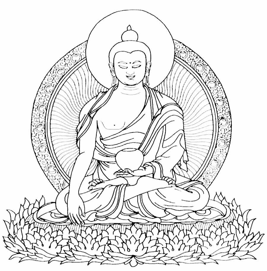 Buddhist Coloring Page Coloring Home