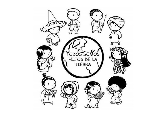 Coloring Page Of Children Around The World