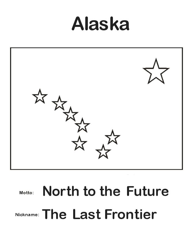 alaska flag coloring pages - photo#7