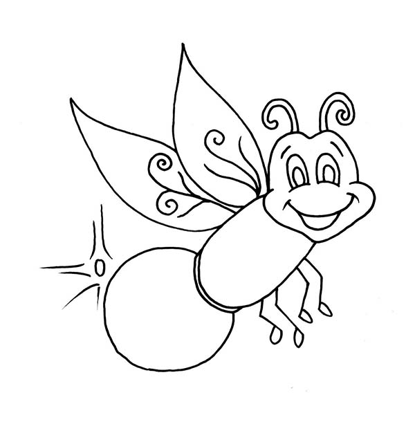 Lightning Bug Coloring Pages Az Coloring Pages Firefly Coloring Page