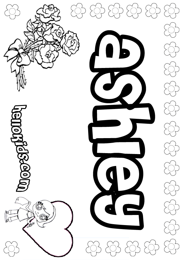 girl names coloring pages - photo#8