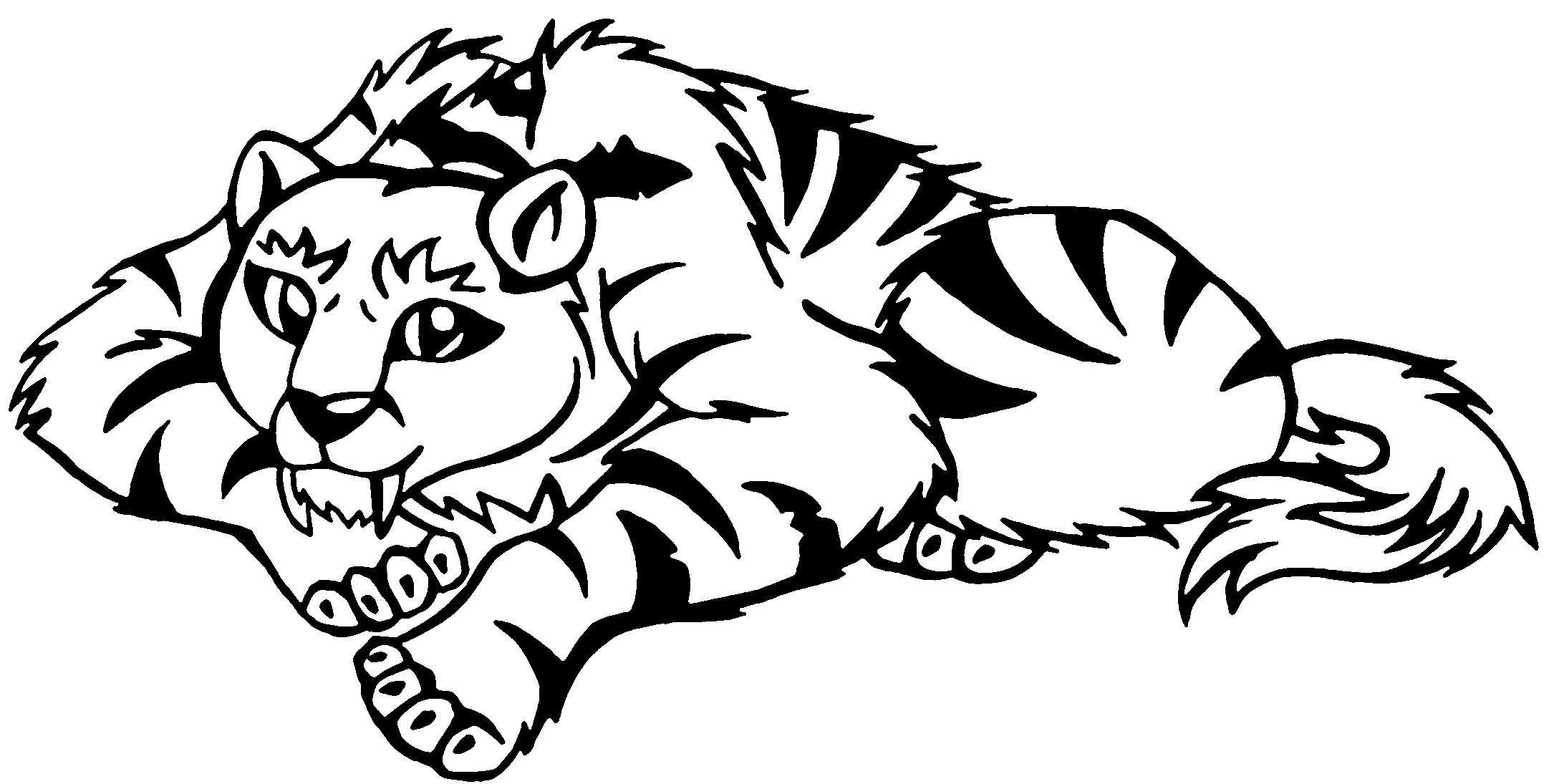 Saber Tooth Tiger Coloring Pages