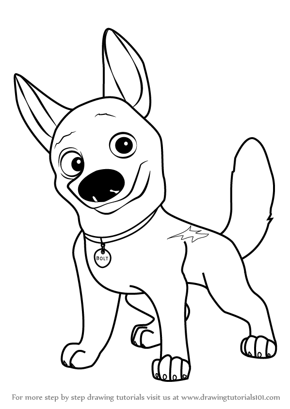 Pictures Of Bolt The Dog Coloring Page Coloring Home