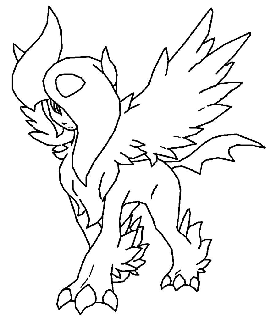 Pokemon Coloring Pages Umbreon - AZ Coloring Pages