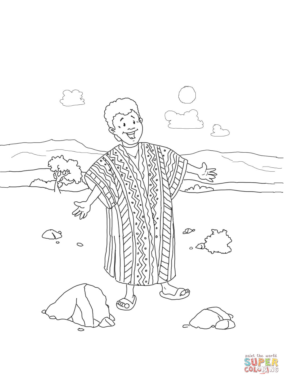 Coloring Page Joseph Coat Of Many Colors Coloring Home