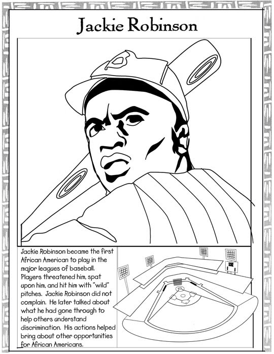 Black History Coloring Pages: Harriet Tubman/Jackie Robinson ...