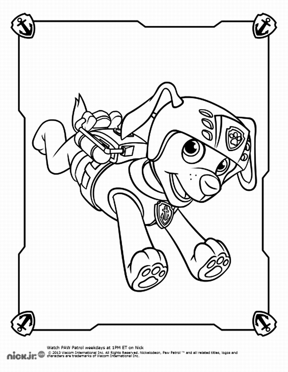 Coloring Pages Paw Patrol Zuma : Paw Patrol Coloring Pages Coloring Home