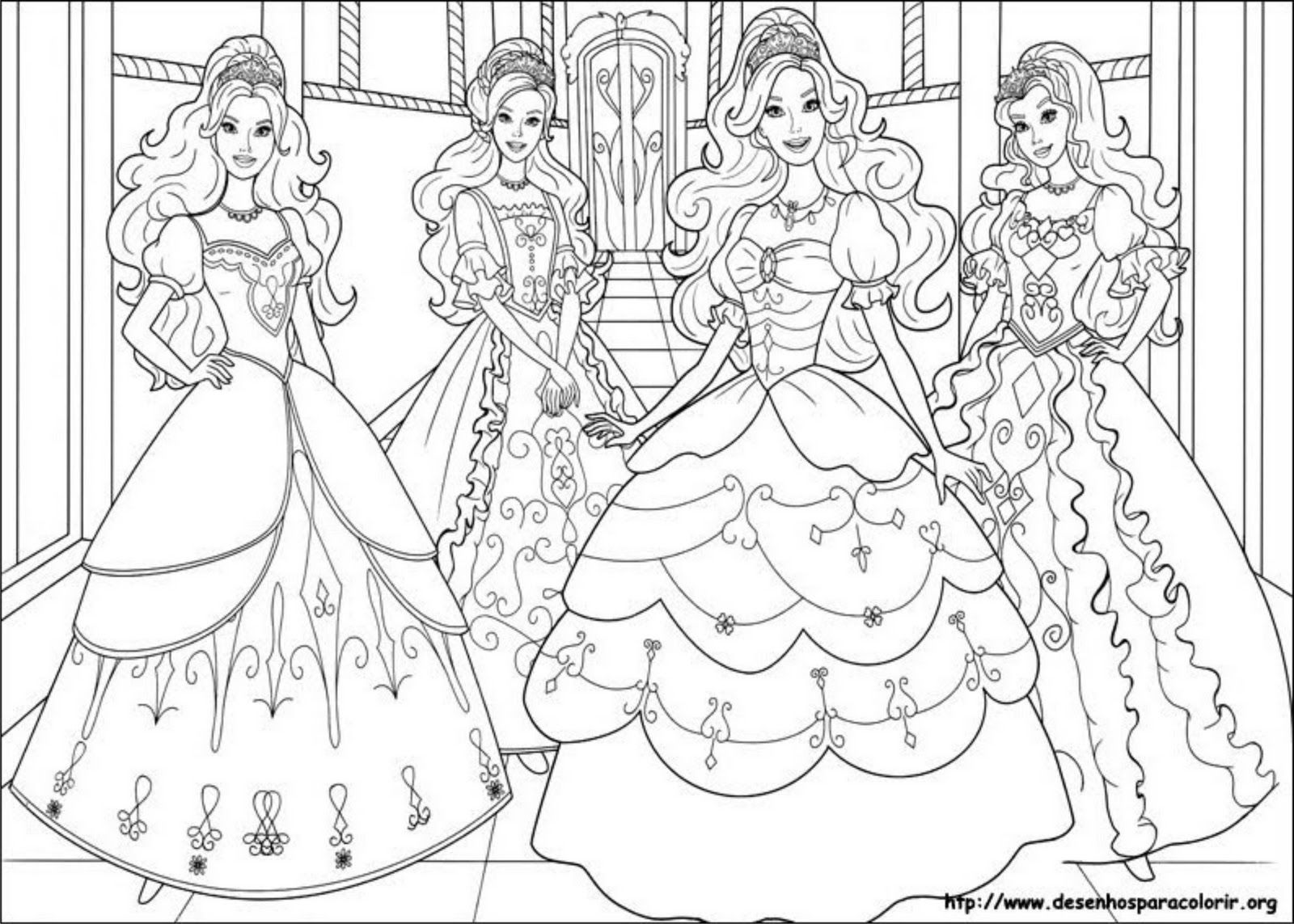 Free printable coloring pages barbie princess - Princess Barbie Printables Coloring Pages High Quality Coloring