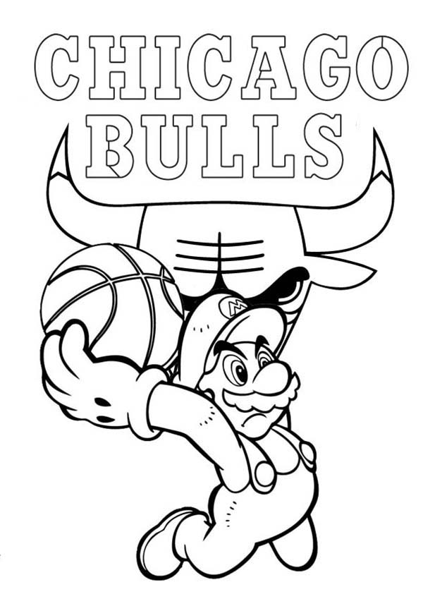 Chicago Bulls Coloring Pages Coloring Home