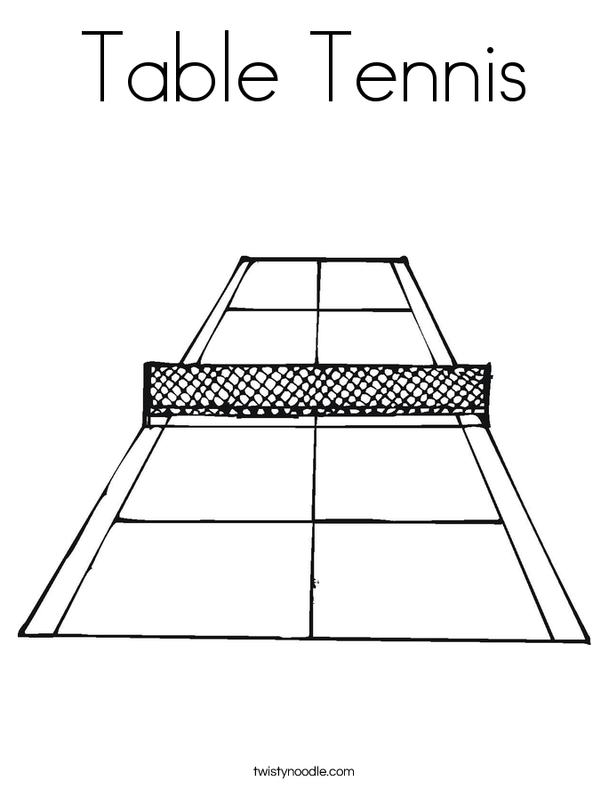 Table Tennis Coloring Page - Twisty Noodle