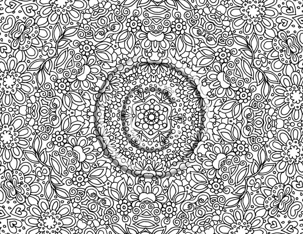 Coloring pages intricate - Very Detailed Coloring Pages For Adults 603627 Coloring
