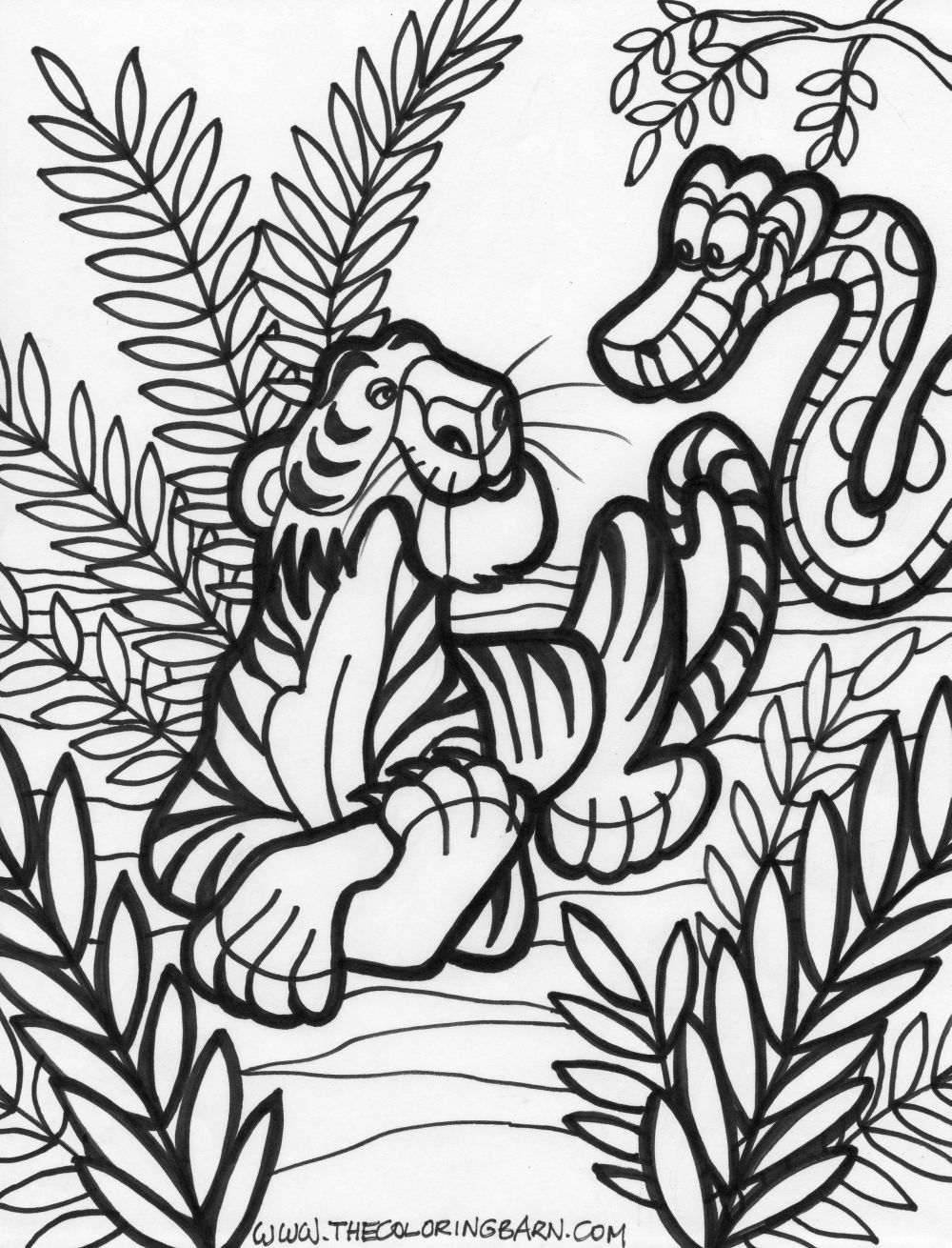 Jung;e Coloring Pages - Coloring Home