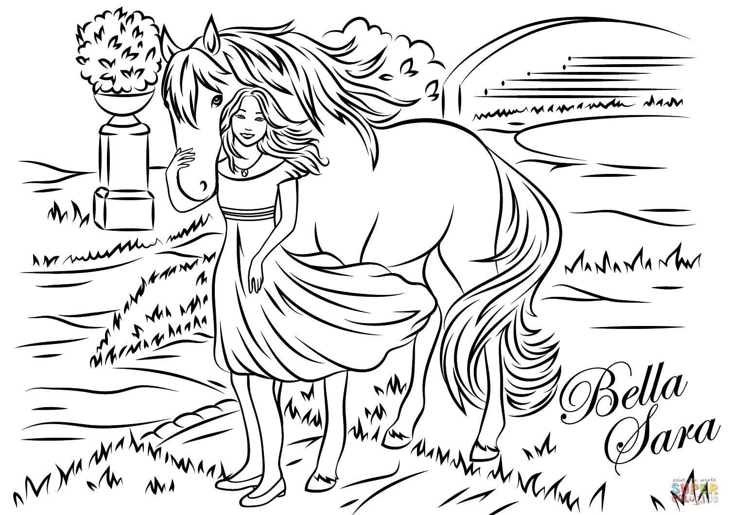 Bella Sara | Animal coloring pages, Horse coloring pages, Coloring ... | 1060x1500