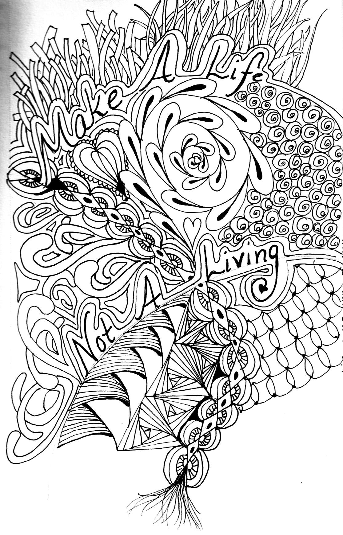 free advanced flower coloring pages - photo#33