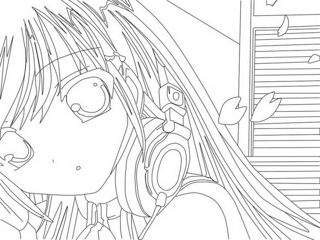Раскраска для девочек аниме - 4