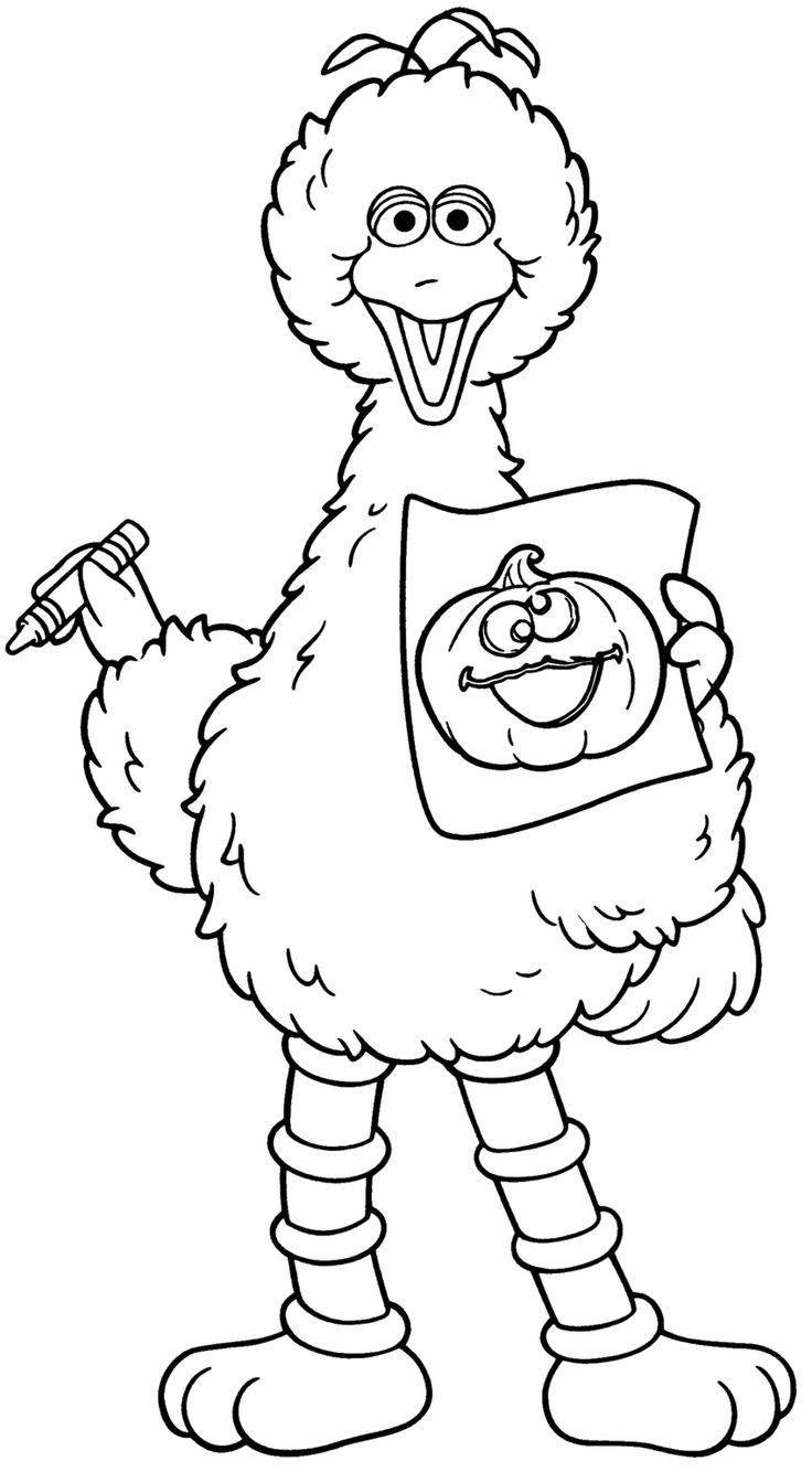 Sesame Street Face Coloring Pages