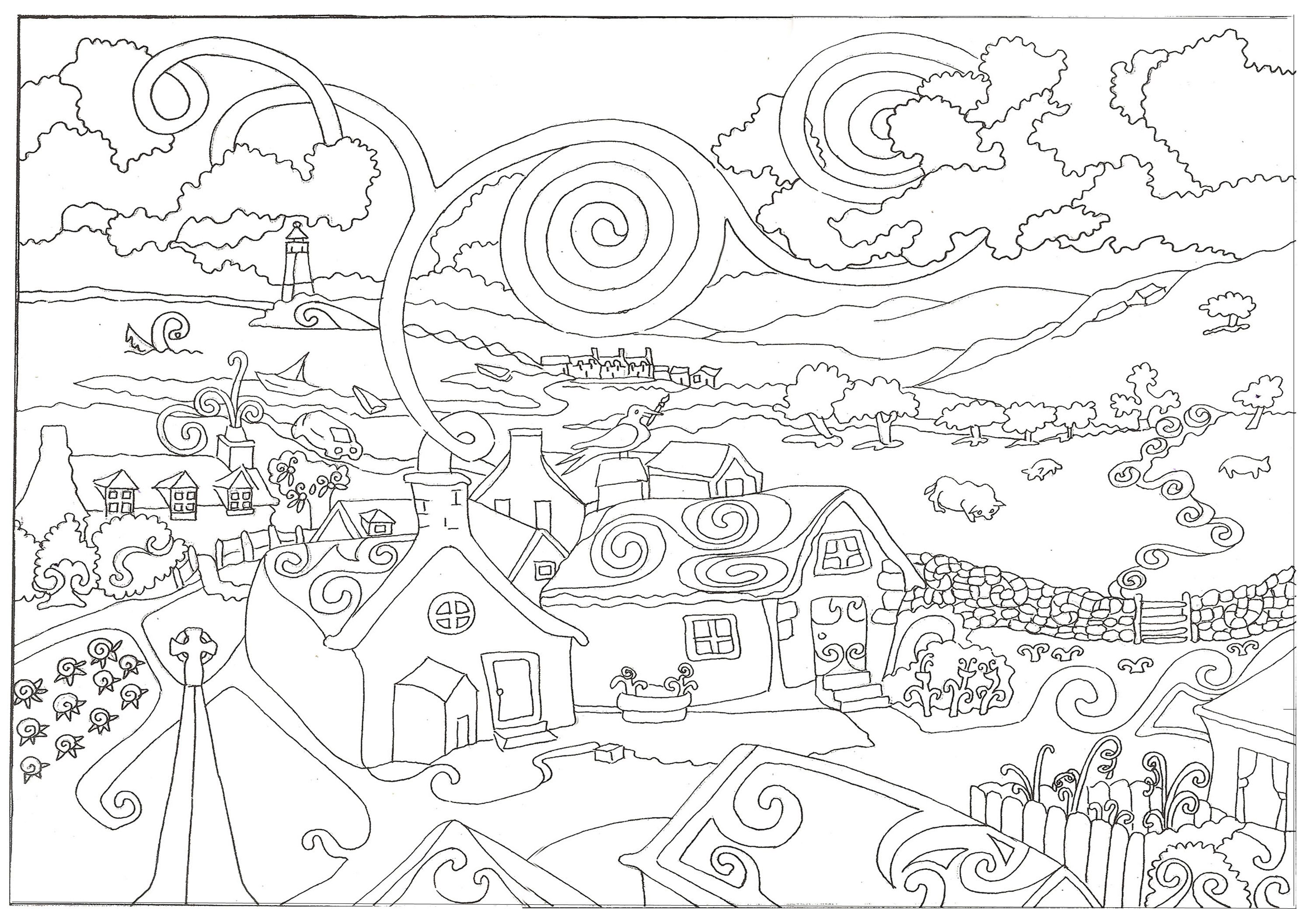 Fun hard coloring pages for kids coloring home for Hard coloring pages