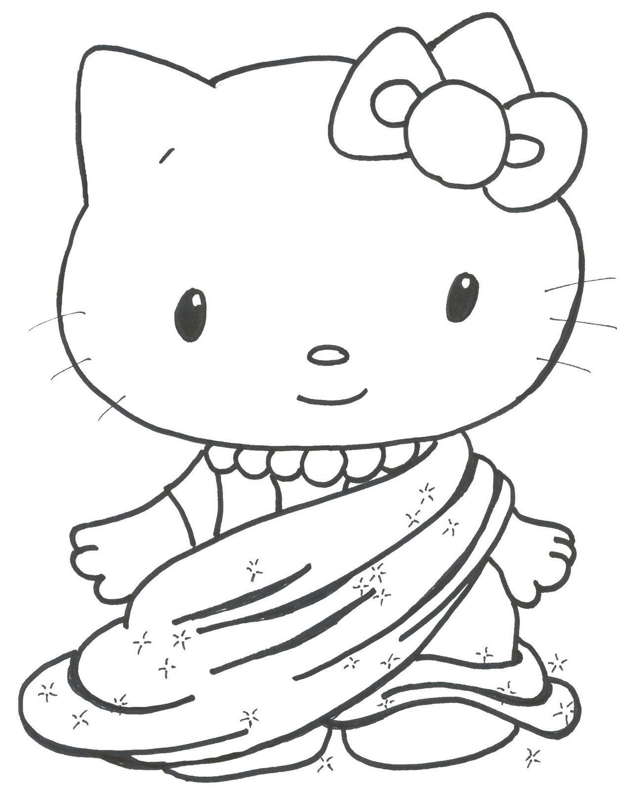 Newborn Kittens Coloring Pages - Coloring Home