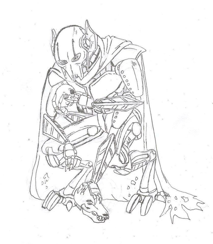 star wars coloring pages general grievous hicoloringpages