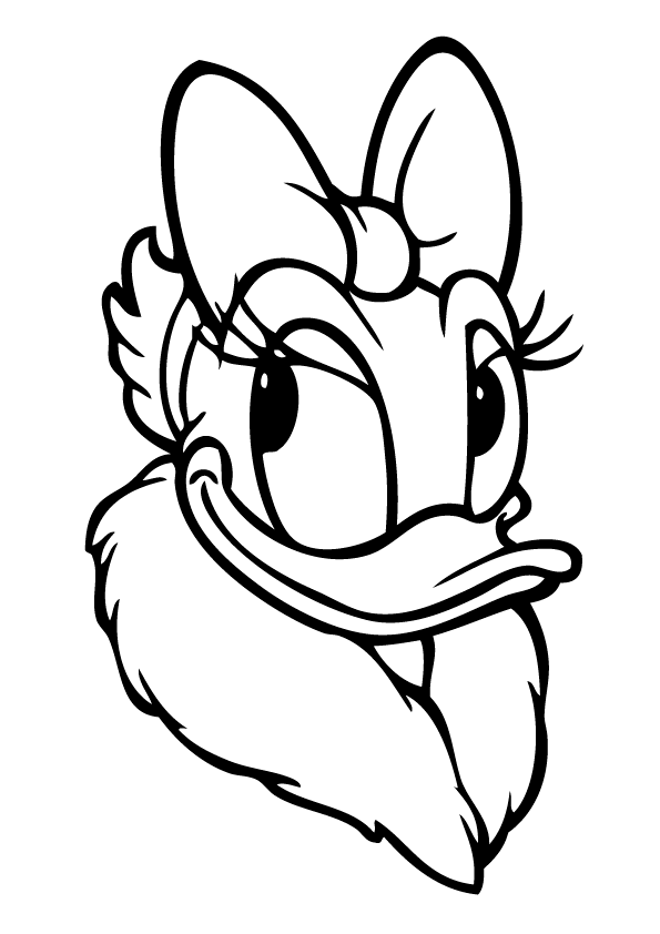 Donald Duck Face Coloring Pages Coloring Home