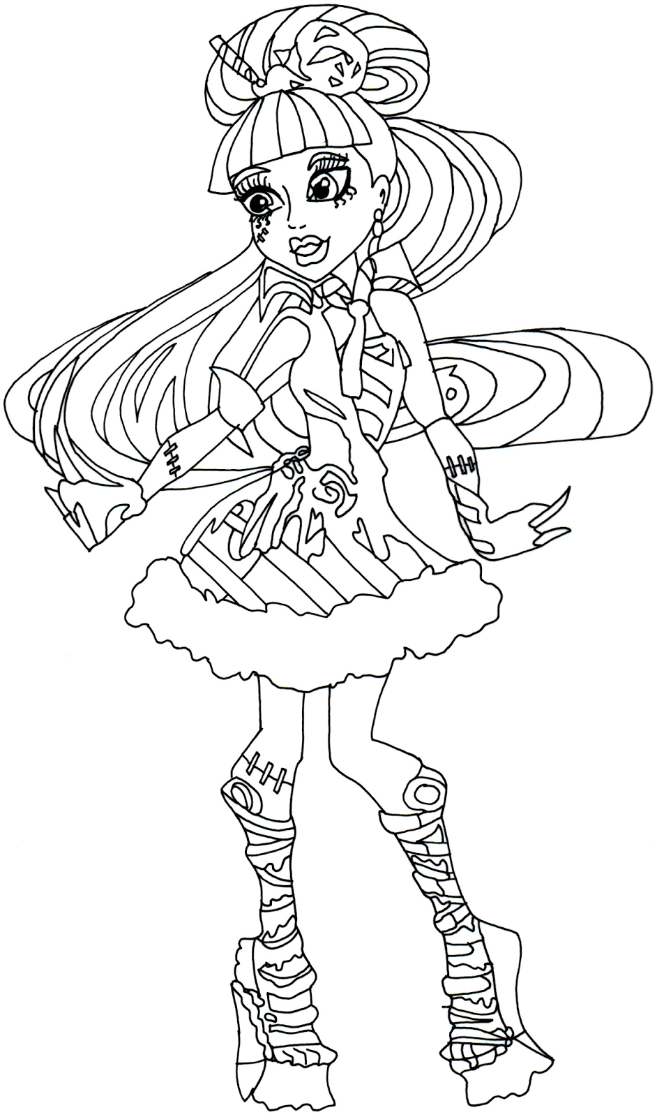 All Monster High Dolls Coloring Pages - Coloring Home