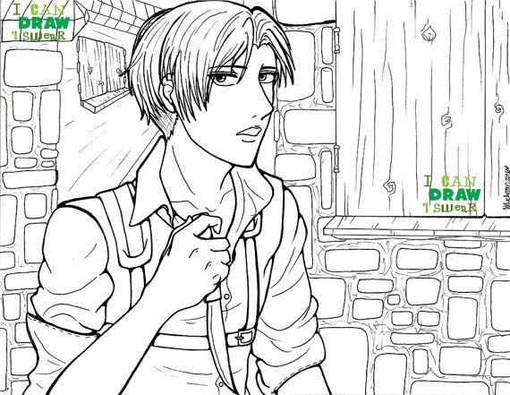 Levi Ackerman Attack On Titan Colouring Page By Coloring Home