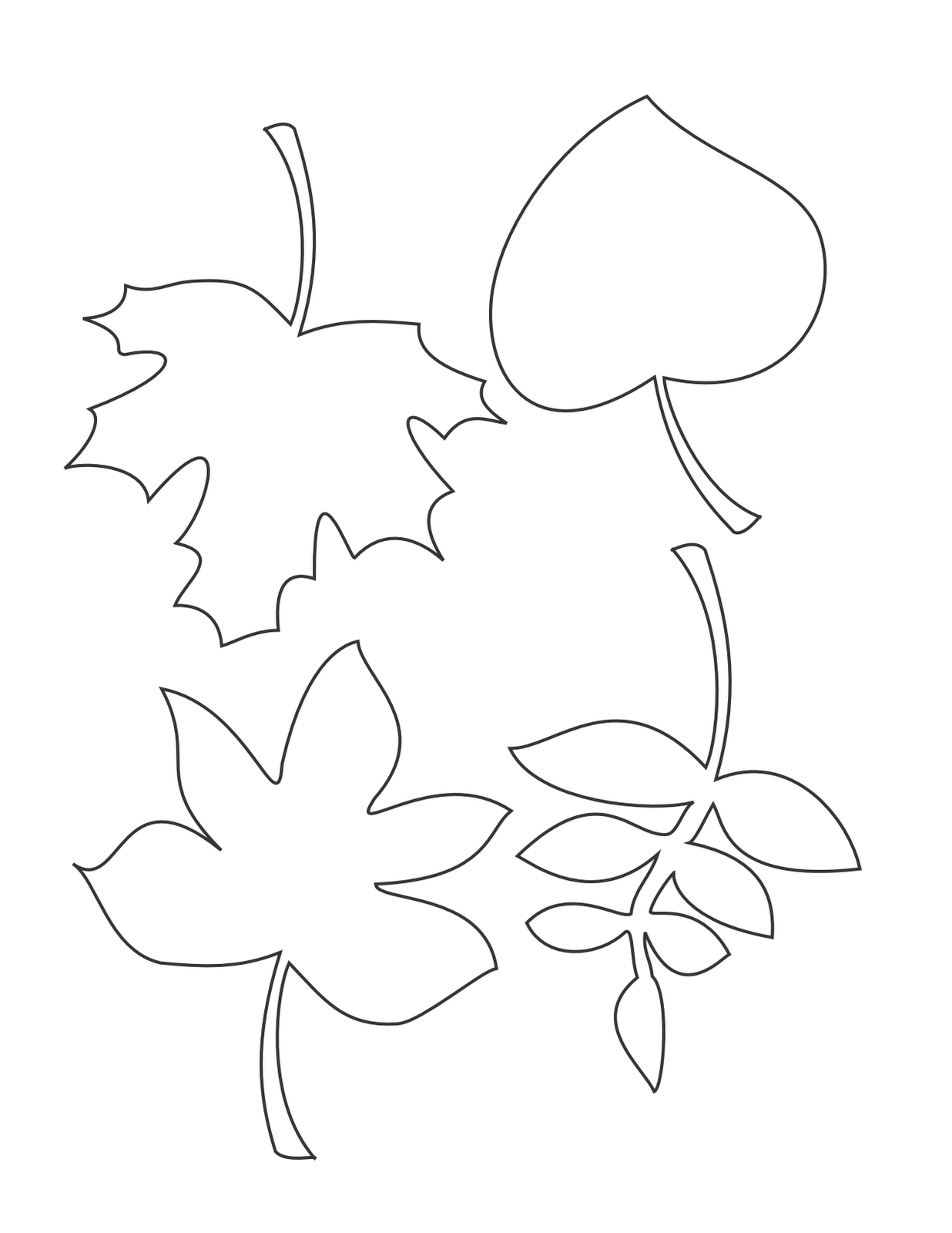leaf printable template coloring home