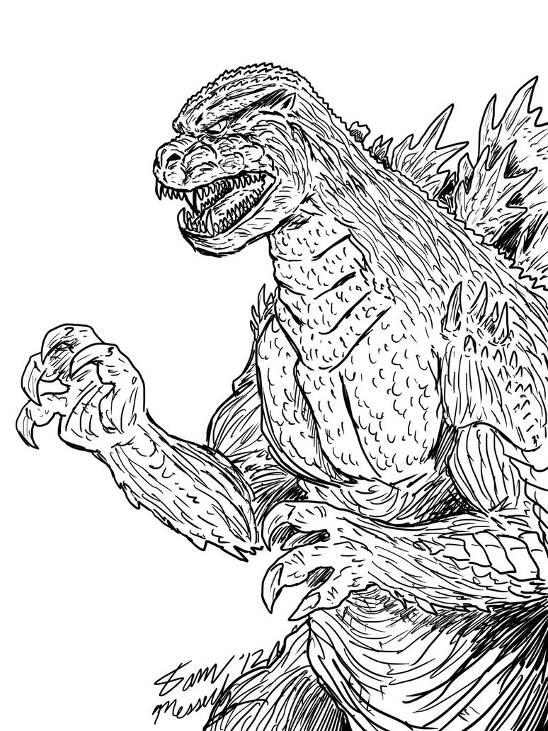 godzilla and coloring pages-#16