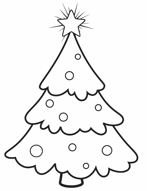 Blank Christmas Tree - Coloring Home