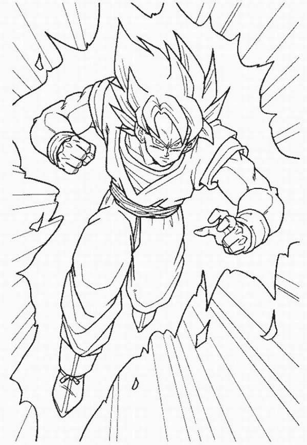 dragon ball z goku super saiyan 2 coloring pages dzrleathercom