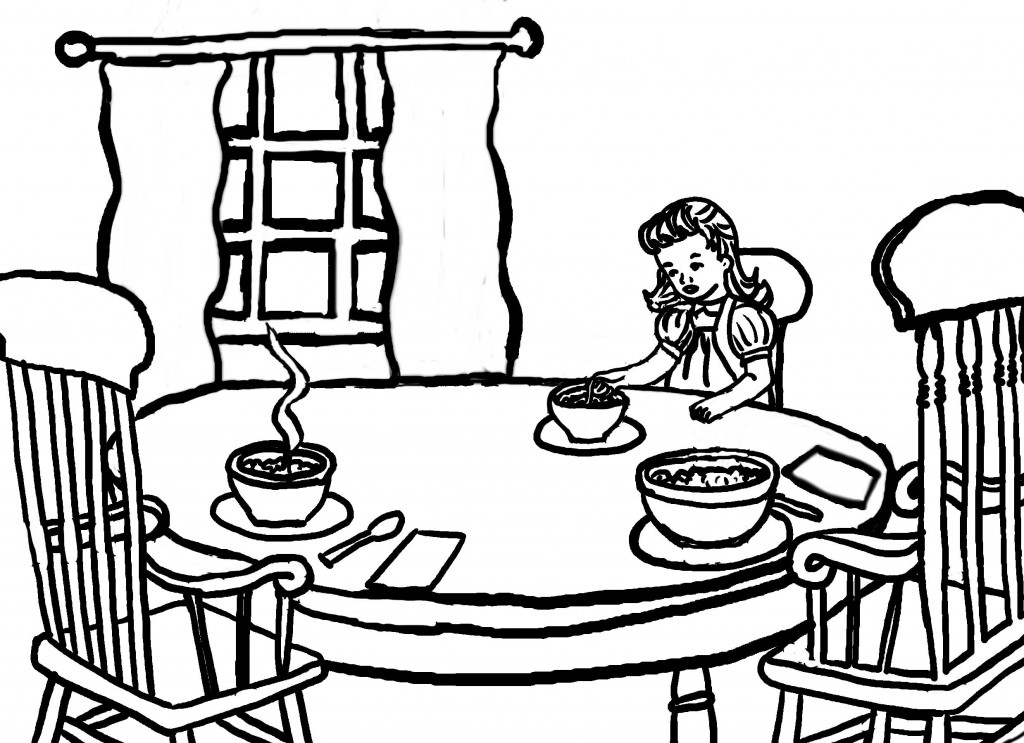 Goldilocks And The Three Bears House Coloring Pages