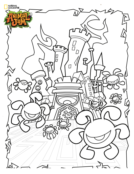 Animal Jam Coloring Pages Coloring Home