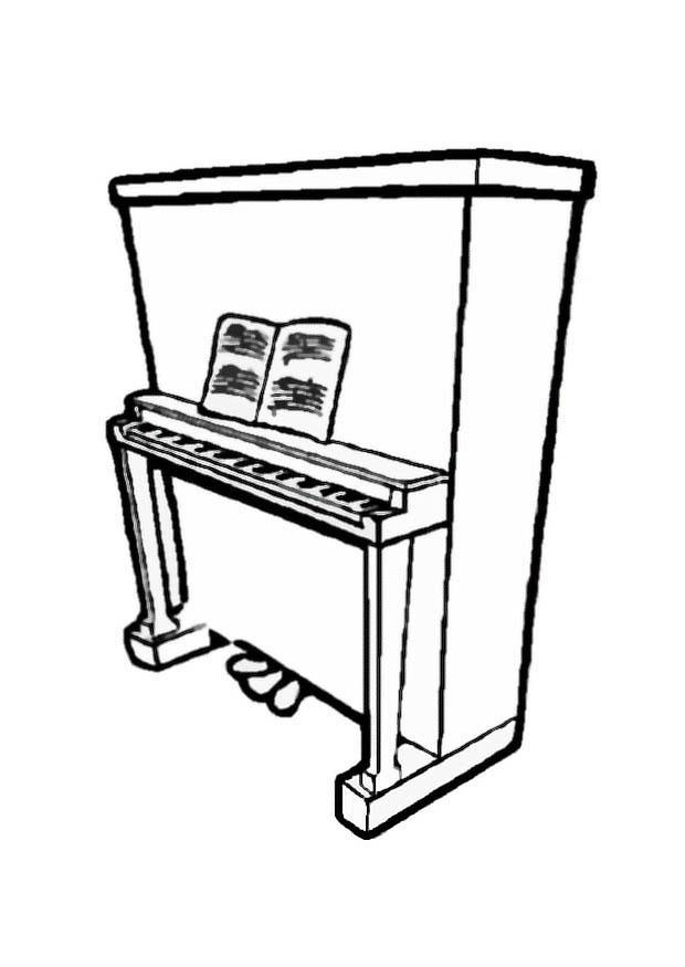Coloring Page piano 2 - free printable coloring pages