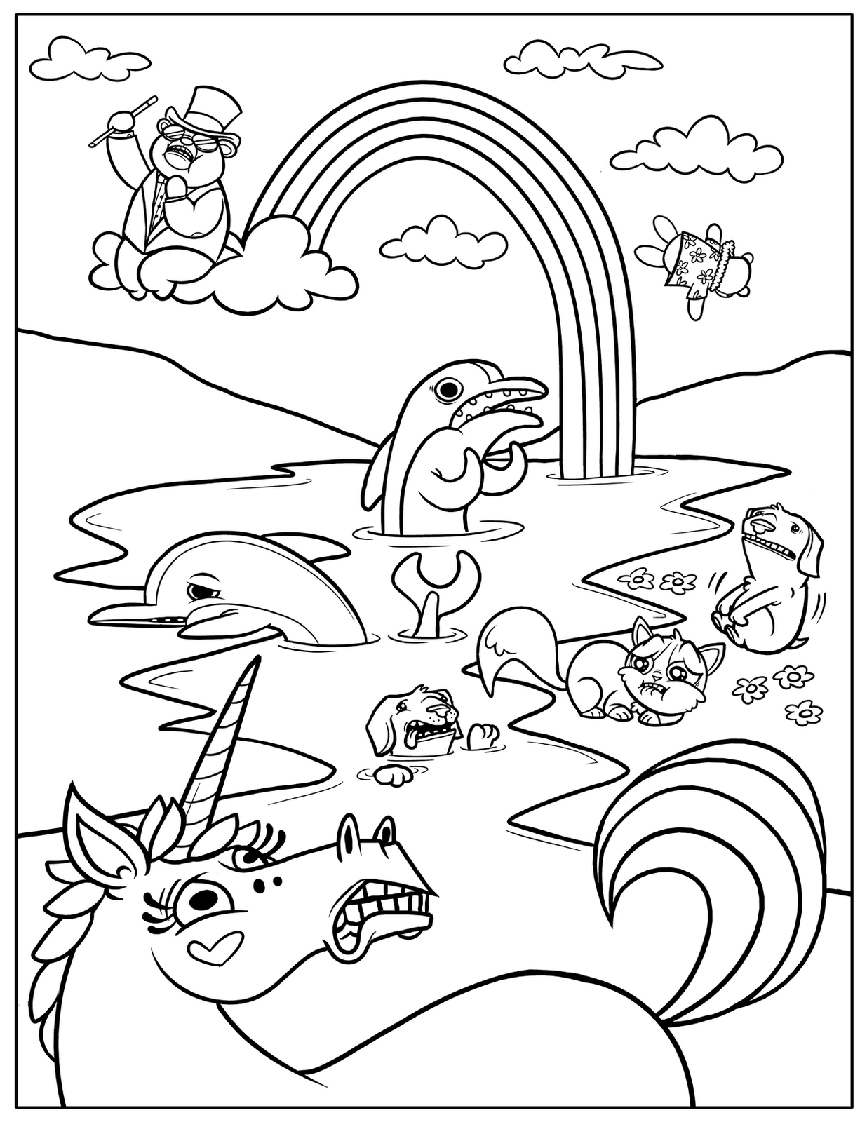 - Rainbow Magic Coloring Pages - Coloring Home