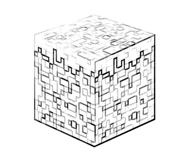 Minecraft Block Coloring Pages