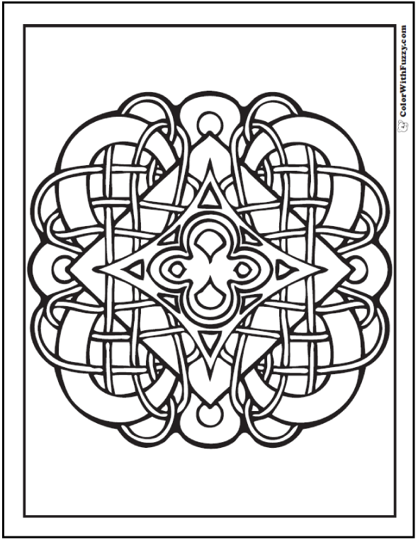 Pattern Coloring Pages: Customize PDF Printables